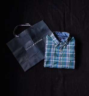 Authentic Tommy Hilfiger Plaid LS Button Down Shirt
