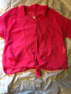 Garage highlighter pink shirt