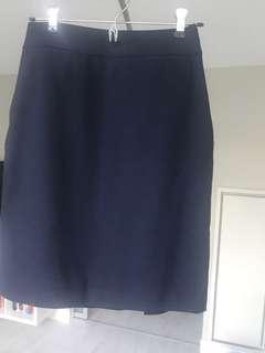 Banana Republic Navy Blue Skirt (Size 2P)