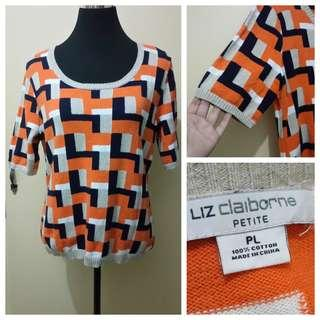 WA947 Liz Claiborne Knitted Blouse - see pics for Measurements
