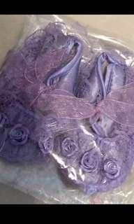 🍒pretty purple baby shoes