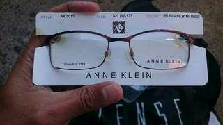 Authentic Ann Klein 5015 Burgundy Marble Prescription Eyeglasses