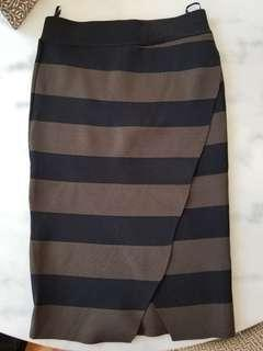 Piper striped pencil skirt size S