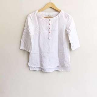 Adorable French inspired white cotton blouse