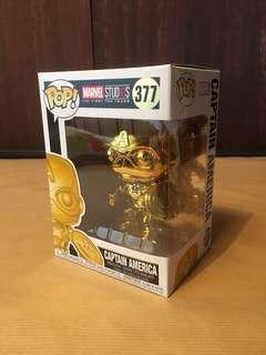 Funko Pop! MS10 Captain America Gold Chrome