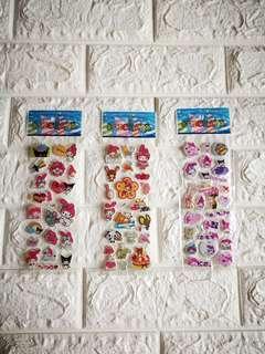 3 piece set My melody 3d foam Stickers with free postage