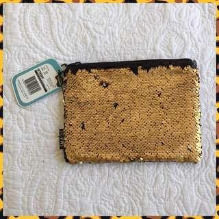 Black & Gold Make Up Bag or Pencil Case