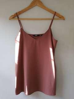 Pre-loved Uniqlo Old Rose Sleeveless Top
