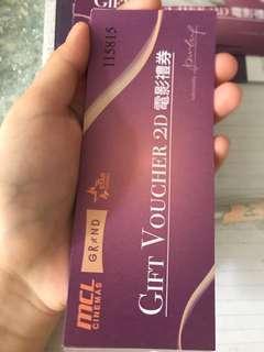 MCL電影禮券(六張