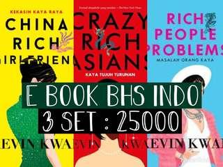 E BOOK BHS INDO / INGGRIS Kevin Kwan (3 SET) - Crazy Rich Asians, China Rich Girlfriend, Rich People Problems