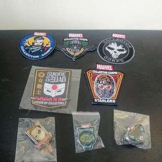 Marvel / DC Patches and Pins