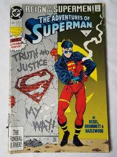 "Vintage Superman ""Reign of the Supermen"" Comic by DC Comic"