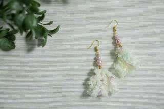 Japanese style tassel earring