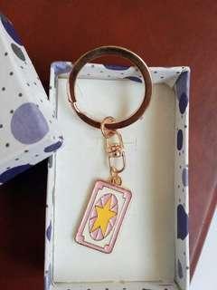 Card captor Sakura Pink card keychain