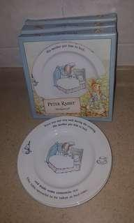 Peter Rabbit plates- by wedgewood- 5pcs
