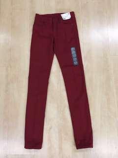 Uniqlo Skinny Jeans Wine Red