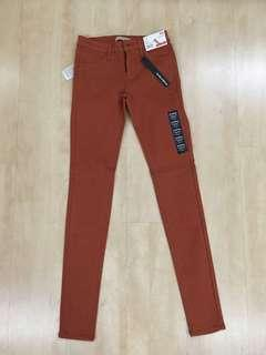 Uniqlo Skinny Jeans Orange