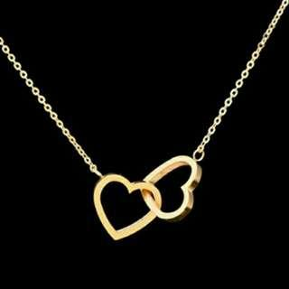 Twin Hearts Lucy Charm Necklace