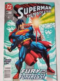 "Vintage Superman ""The Man of Steel"" Comic by DC Comic"