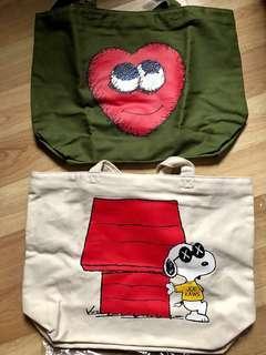Uniqlo x Kaws Supreme Tote Bag