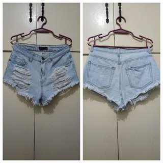 WA950 Chicabooti Tattered Denim Shorts - see pics for Measurements