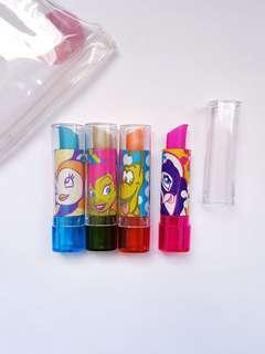 4 Pack Disney Collectable Lipstick Erasers