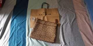 Coach Signature Zip File Crossbody Bag