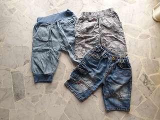 3pcs 1 - 3 yo boy bermuda short pant