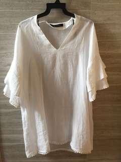 Zara white tops XS