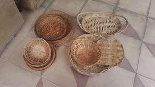 Assorted size Bamboo baskets