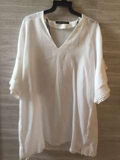Zara white tops S