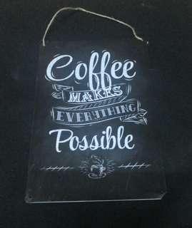 Tin Signboard (Coffee)