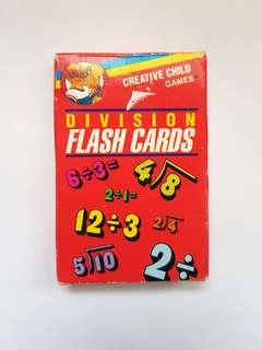 Division Flash Card Game