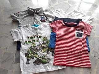 4pcs Size 100 Boy 1-3 yo tee shirt