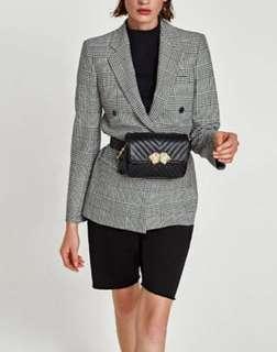 Zara Black Lion Belt Bag/ Crossbody