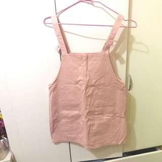 🚚 質感好 可愛粉色吊帶裙