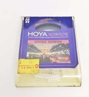 Hoya Cross Screen 55mm, built in with 52 mm converter