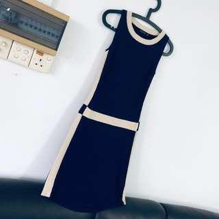 Ninth brand! Blue knitted elegant Dress