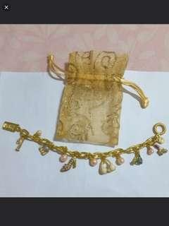 Ideal X'mas Gifts - Golden Bracelet with Charms