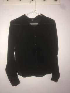 Forever 21 Sheer Dress Shirt   Size XS