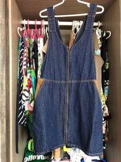 Zara Denim Dungaree/jumpsuit/overall