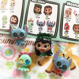 Disney stitch 史迪仔 小甘 小金 迪士尼 mini figure