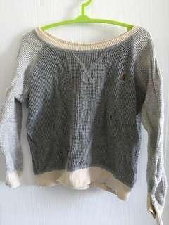🚚 BabyGap 灰色圓領針織衫