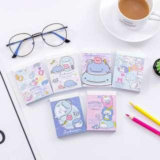 🚚 Ready Stocks!San-X Jinbesan Mini Memo Note Pad @ $2.50 or All 6 designs for $12 or Buy 6 sets and above for $2 per pcOnly!!!