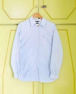Authentic Tommy Hilfiger Womens Pinstripe LS Button Down Shirt