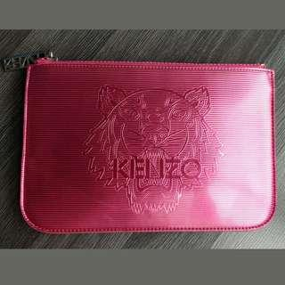 Kenzo Pink Clutch Pouch Case Bag Flat Wallet iPhone