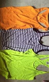 3 Pieces of Tank Tops All for 100 Pesos