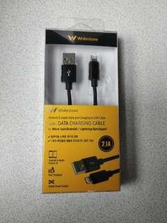 Whitestone dual data charging cablee