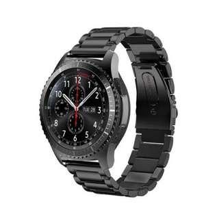 Gear S3 black stainless steel strap 黑鋼錶帶