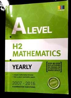 🚚 A LEVEL H2 MATHS TYS (YEARLY) 2016